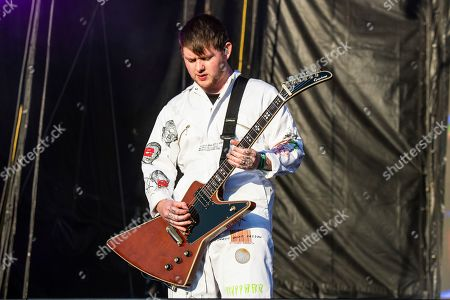 Lee Malia of Bring Me The Horizon performs at the Voodoo Music Experience in City Park, in New Orleans