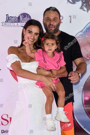 Isabela Rangel, David Grutman and Kaia Grutman
