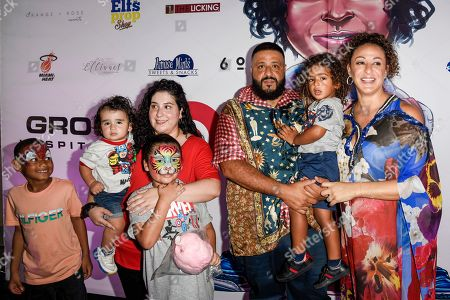 Stock Picture of DJ Khaled, Asahd Tuck Khaled, Nicole Tuck and guests