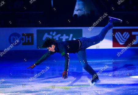Keiji Tanaka of Japan skates in the Exhibition Program at the Skate Canada International ISU Figure Skating Grand Prix in Kelowna, Canada, 27 October 2019.