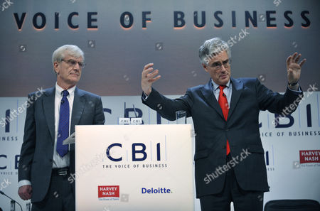 Richard Lambert Director General of the CBI with Lord Turner of the Financial Services Authority