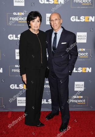 Stock Photo of Marilyn Katzenberg and Jeffrey Katzenberg