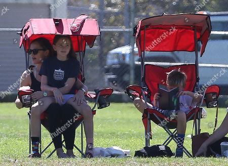 Jennifer Garner, Seraphina Affleck and Samuel Affleck