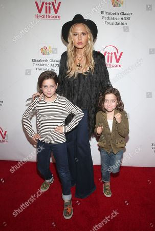 Stock Image of Rachel Zoe, Kaius Jagger Berman and Skyler Morrison Berman