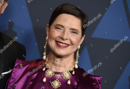 Isabella Rossellini arrives at the Governors Awards, at the Dolby Ballroom in Los Angeles
