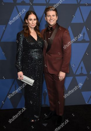Allen Leech, Jessica Blair. Allen Leech, right, and Jessica Blair arrive at the Governors Awards, at the Dolby Ballroom in Los Angeles