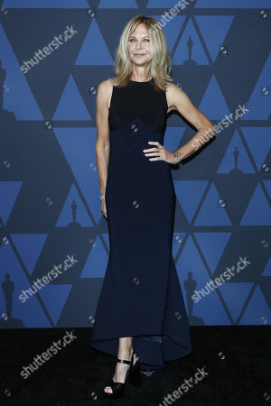 Meg Ryan poses on the red carpet prior the 11th Annual Governors Awards at the Dolby Theater in Hollywood, California, USA, 27 October 2019.