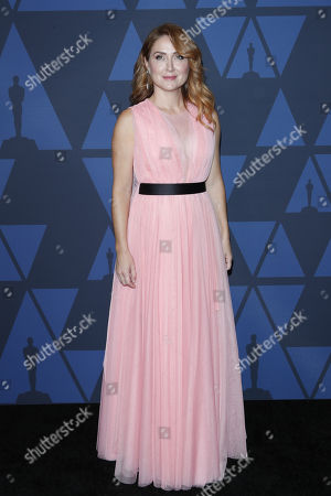 Sasha Alexander poses on the red carpet prior the 11th Annual Governors Awards at the Dolby Theater in Hollywood, California, USA, 27 October 2019.
