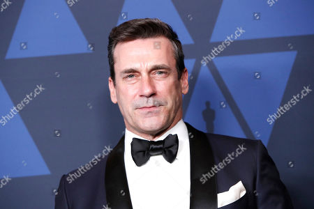 John Hamm poses on the red carpet prior to the 11th Annual Governors Awards at the Dolby Theater in Hollywood, California, USA, 27 October 2019.