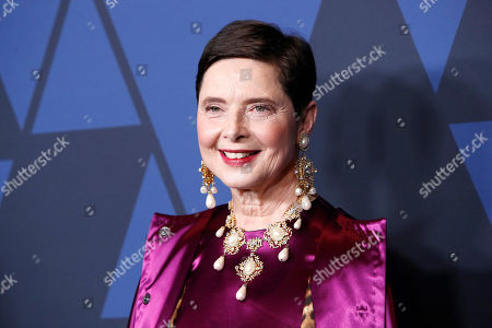 Isabella Rossellini poses on the red carpet prior to the 11th Annual Governors Awards at the Dolby Theater in Hollywood, California, USA, 27 October 2019.
