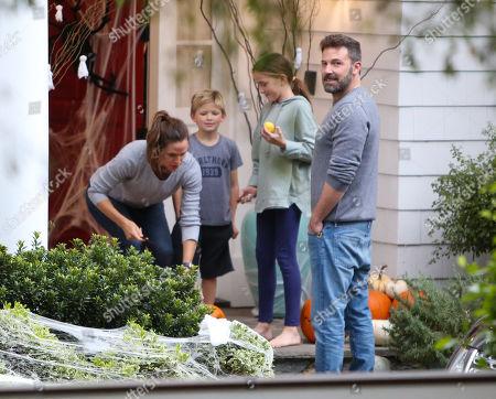 Jennifer Garner, Samuel Affleck, Seraphina Affleck and Ben Affleck