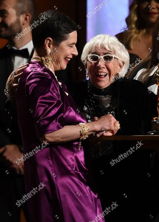 Isabella Rossellini, Lina Wertmuller. Isabella Rossellini, left, and honoree Lina Wertmuller appear on stage at the Governors Awards, at the Dolby Ballroom in Los Angeles