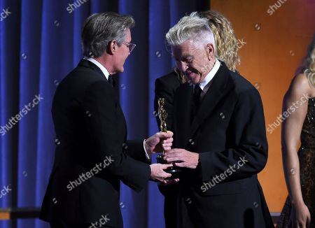 Kyle MacLachlan, David Lynch. Kyle MacLachlan, left, presents an honorary award to director David Lynch at the Governors Awards, at the Dolby Ballroom in Los Angeles