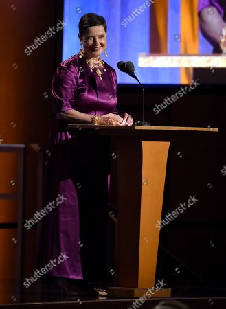 Isabella Rossellini speaks at the Governors Awards, at the Dolby Ballroom in Los Angeles