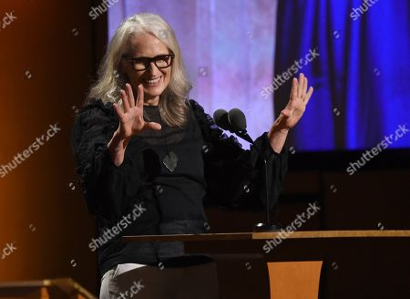 Stock Image of Jane Campion speaks at the Governors Awards, at the Dolby Ballroom in Los Angeles
