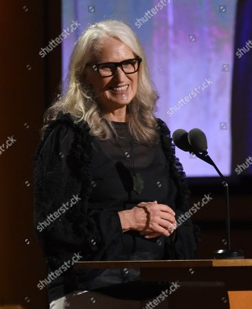 Jane Campion speaks at the Governors Awards, at the Dolby Ballroom in Los Angeles