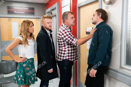 Ep 9914 Friday 1st November 2019 - 2nd Ep At the hospital, Steve McDonald, as played by Simon Gregson, is told Emma has a ruptured appendix and needs an emergency op. Steve is furious when he finds out Ali Neeson, as played by James Burrows, told her she had food poisoning and accuses him of medical negligence. With Maria Connor, as played by Samia Longchambon, and Gary Windass, as played by Mikey North.
