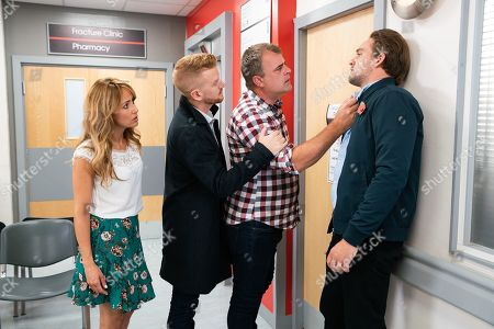 Ep 9914 Friday 1st November 2019 - 2nd Ep At the hospital, Steve McDonald, as played by Simon Gregson, is told Emma has a ruptured appendix and needs an emergency op. Steve is furious when he finds out Ali Neeson, as played by James Burrows, told her she had food poisoning and accuses him of medical negligence. Maria Connor, as played by Samia Longchambon, and Gary Windass, as played by Mikey North.