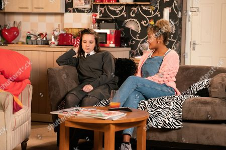 Ep 9926 Friday 15th November 2019 - 1st Ep In a bid to delay Emma's, as played by Alexandra Mardell, return home, Amy Barlow, as played by Elle Mulvaney, trips over on purpose and fakes a sprained ankle. Emma helps Amy home and points out that with her injured ankle, they won't be able to attend the Little Mix gig. Amy's gutted.