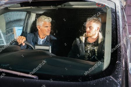 Ep 9920 Friday 8th November 2019 - 1st Ep Robert Preston, as played by Tristan Gemmill, is horrified to see Tyler, as played by Will Barnett, who tells him that he and Amy have become mates.