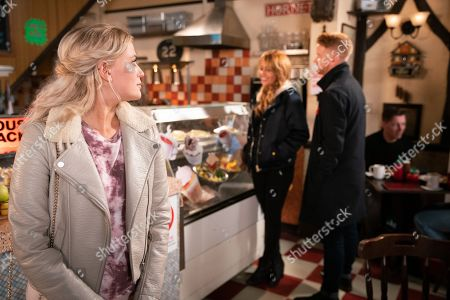 Ep 9912 Thursday 31st October 2019  Bethany Platt, as played by Lucy Fallon, quizzes Maria Connor, as played by Samia Longchambon, about her feelings for Gary Windass, as played by Mikey North. Maria insists they're nothing more than mates but Bethany reckons she should go for it.