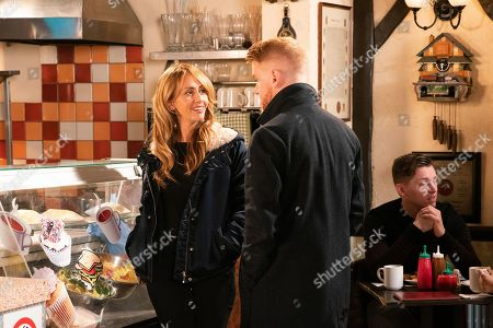 Ep 9912 Thursday 31st October 2019  Bethany Platt quizzes Maria Connor, as played by Samia Longchambon, about her feelings for Gary Windass, as played by Mikey North. Maria insists they're nothing more than mates but Bethany reckons she should go for it.