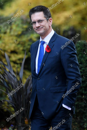 Steve Baker MP, of the ERG group, arriving at No.10 Downing Street, London.