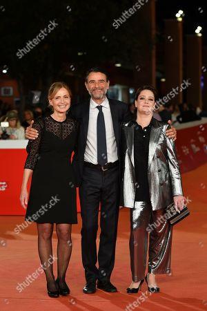 The director Cristina Comencini, Vincenzo Amato, Giovanna Mezzogiorno