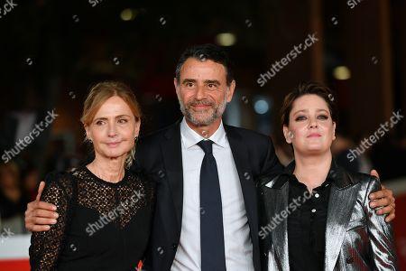 Stock Picture of The director Cristina Comencini, Vincenzo Amato, Giovanna Mezzogiorno
