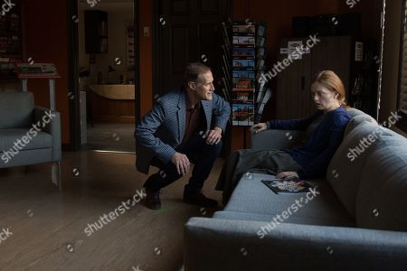 Stock Photo of Christopher Heyerdahl as Augustus Nickel and Alex Paxton-Beesley as Anna Funk