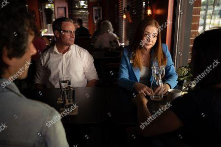 Ryan Robbins as Noah Funk and Alyson Hannigan as Esther Dunkel
