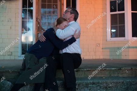 Alex Paxton-Beesley as Anna Funk and Ryan Robbins as Noah Funk