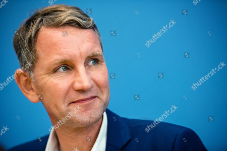 Thuringia chairman and top candidate of the Alternative for Germany (AfD) right-wing populist party Bjoern Hoecke during a press conference on the result of the Thuringia state elections in Berlin, Germany, 28 October 2019. The AfD party finished second in Thuringia state elections with 23.4 percent of the total votes, gaining 12.8 percent more than the last time.