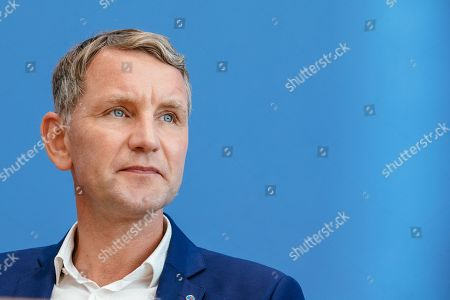 Thuringia chairman and top candidate of the Alternative for Germany (AfD) right-wing populist party Bjoern Hoecke attends a press conference on the result of the Thuringia state elections in Berlin, Germany, 28 October 2019. The AfD party finished second in Thuringia state elections with 23.4 percent of the total votes, gaining 12.8 percent more than the last time.