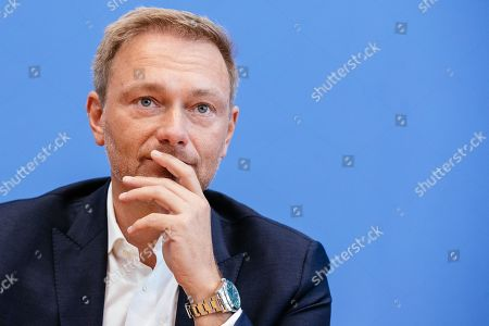 Chairman of German Free Democratic (FDP) party Christian Lindner speaks during a press conference on the result of the Thuringia state elections in Berlin, Germany, 28 October 2019. The FDP party finished sixth in Thuringia state elections with 5 percent of the total votes, gaining 2.5 percent more than the last time.