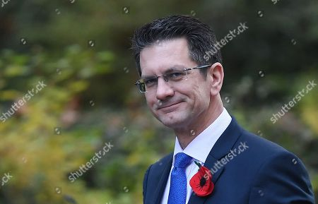 Chairman of the European Research Group Steve Baker arrives at 10 Downing Street in London, Britain, 28 October 2019.