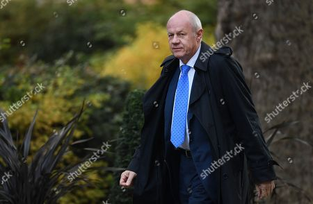 Stock Picture of Former First Secretary of State and Minister for the Cabinet Office Damien Green arrives at 10 Downing Street in London, Britain, 28 October 2019.