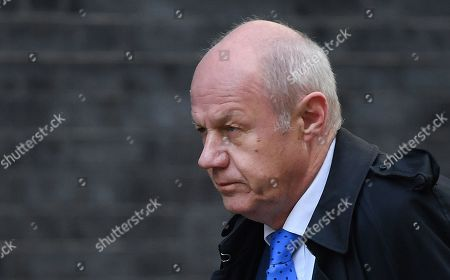 Former First Secretary of State and Minister for the Cabinet Office Damien Green arrives at 10 Downing Street in London, Britain, 28 October 2019.