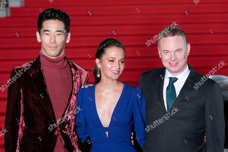 Alicia Vikander, director Wash Westmoreland, japanese actor Naoki Kobayashi