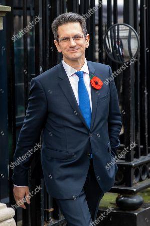 Chairman of the European Research Group (ERG) Steve Baker MP, walks through Westminster.