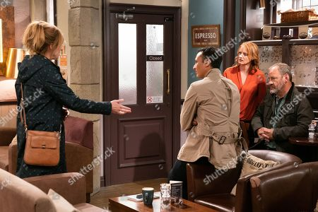 Ep 8648 Wednesday 13th November 2019  Jimmy King's, as played by Nick Miles, shocked at what he's being accused of by Jai Sharma, as played by Chris Bisson. Laurel Thomas, as played by Charlotte Bellamy, worries how her friendship with Nicola King, as played by Nicola Wheeler, will survive given the accusations against Jimmy.
