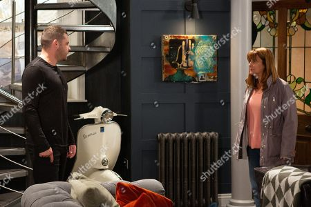 Ep 8639 & 8640 Tuesday 5th November 2019 Victoria Barton, as played by Isobel Hodgins, interrupts Aaron Dingle, as played by Danny Miller, and Wendy, as played by Susan Cookson, fighting, but they're shocked into silence when she breaks down in tears. This leaves Wendy particularly apologetic, and when Wendy leaves Mill, Victoria tries to speak some sense to Aaron.