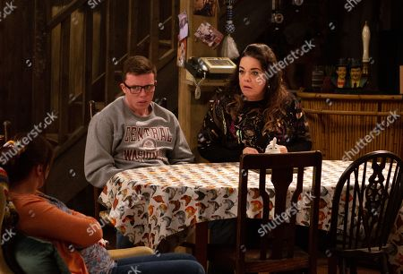 Ep 8632 Tuesday 29th October 2019  As Dingle court begins, Mandy Dingle, as played by Lisa Riley, is quick to point out the hypocrisy given what happened with Aaron and soon agrees to tell the Dingles the truth - her and Vinny, as played by Bradley Johnson, were recently running a casino card counting scam in a number of establishments run by Terry.