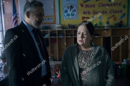 John Ortiz as Jim Thorpe and Ann Dowd as Aunt Lydia Clements