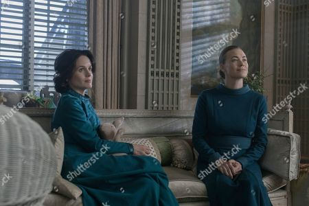 Elizabeth Reaser as Olivia Winslow and Yvonne Strahovski as Serena Joy Waterford