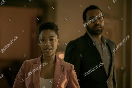 Samira Wiley as Moira Strand and O-T Fagbenle as Luke Bankole
