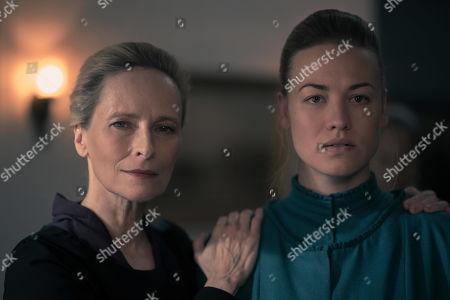 Laila Robins as Pamela Joy and Yvonne Strahovski as Serena Joy Waterford