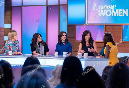Jane Moore, Ricki Lake, Jodi Kantor, Megan Twohey, Carol McGiffin and Kelle Bryan