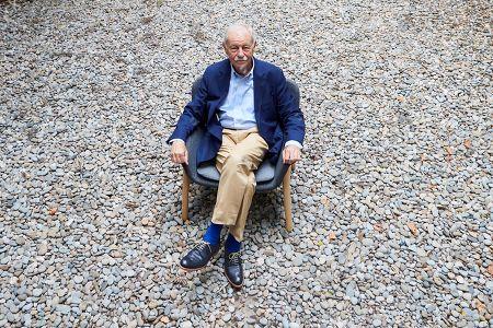 Spanish writer Eduardo Mendoza poses during an interview with Efe news agency in Barcelona, Spain, 28 October 2019. Mendoza presented his new novel, titled 'El negociado del yin y el yang' (lit. The deal between yin and yang).