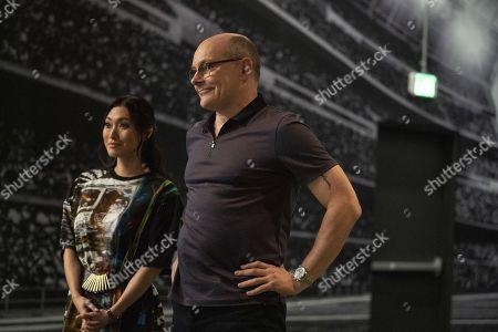 Stock Photo of Catherine Haena Kim as Kate and Rob Corddry as Joe Krutel
